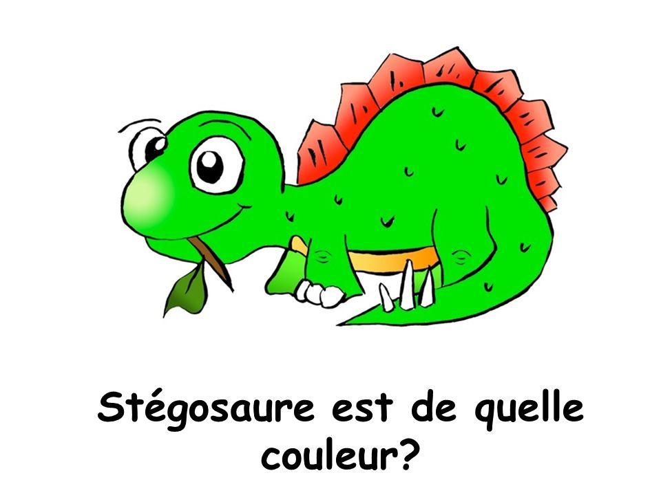 Stégosaure est de quelle couleur