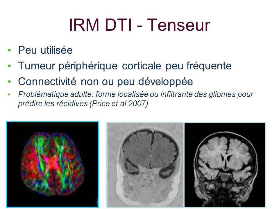 IRM DTI - Tenseur Peu utilisée