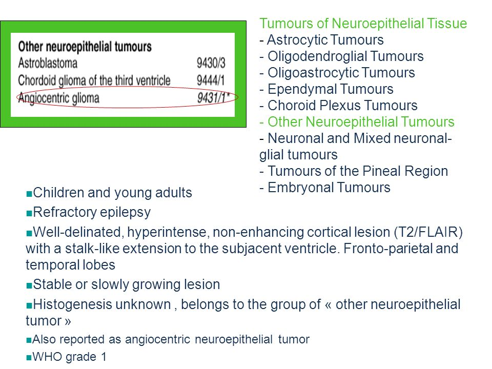 Tumours of Neuroepithelial Tissue - Astrocytic Tumours
