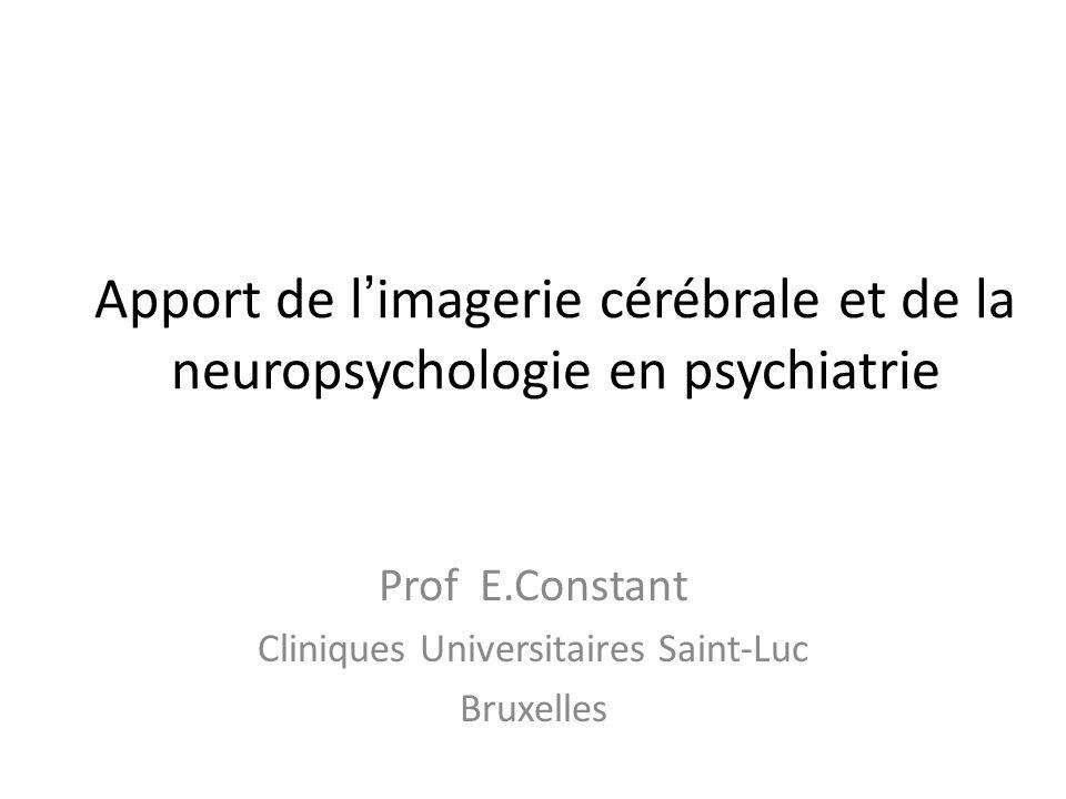 Prof E.Constant Cliniques Universitaires Saint-Luc Bruxelles