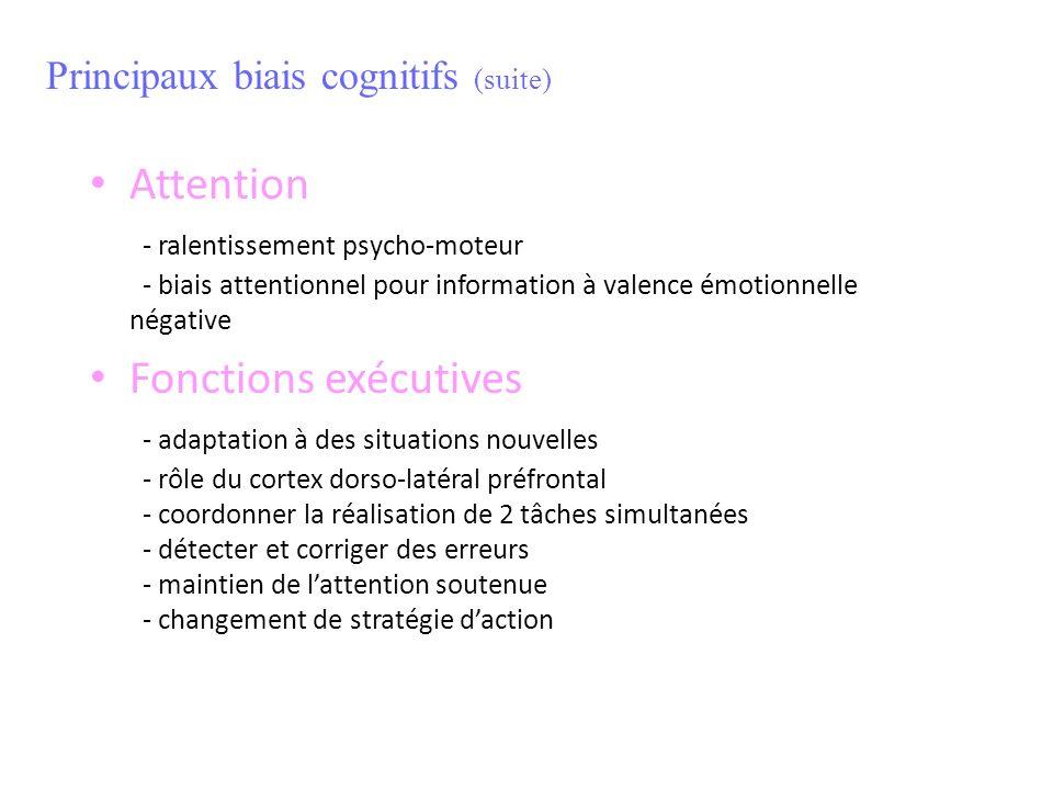 Principaux biais cognitifs (suite)