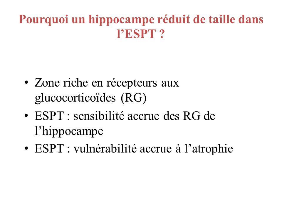 Pourquoi un hippocampe réduit de taille dans l'ESPT