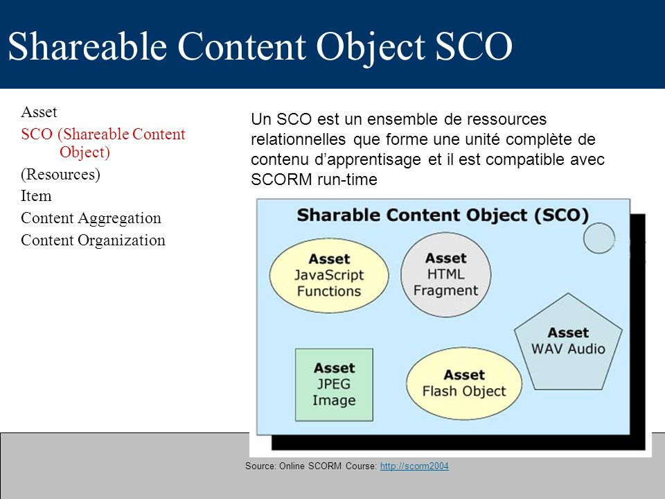 Shareable Content Object SCO