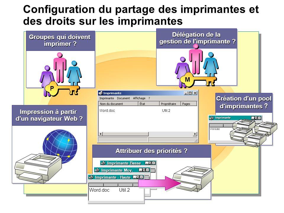 gestion de l imprimante Impression à partir d un navigateur Web