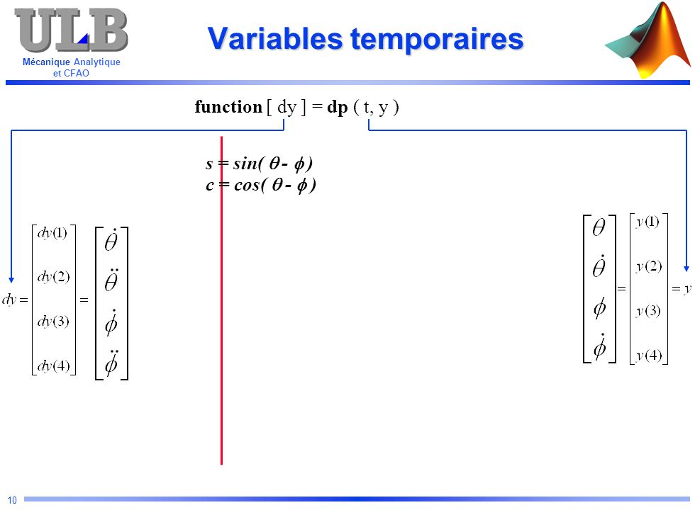 Variables temporaires