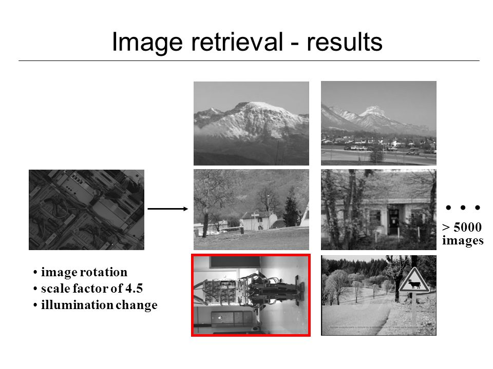 Image retrieval - results