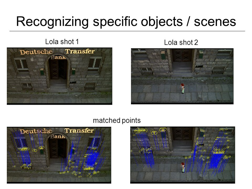 Recognizing specific objects / scenes