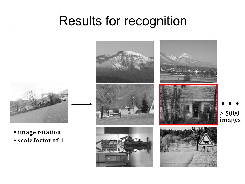 Results for recognition