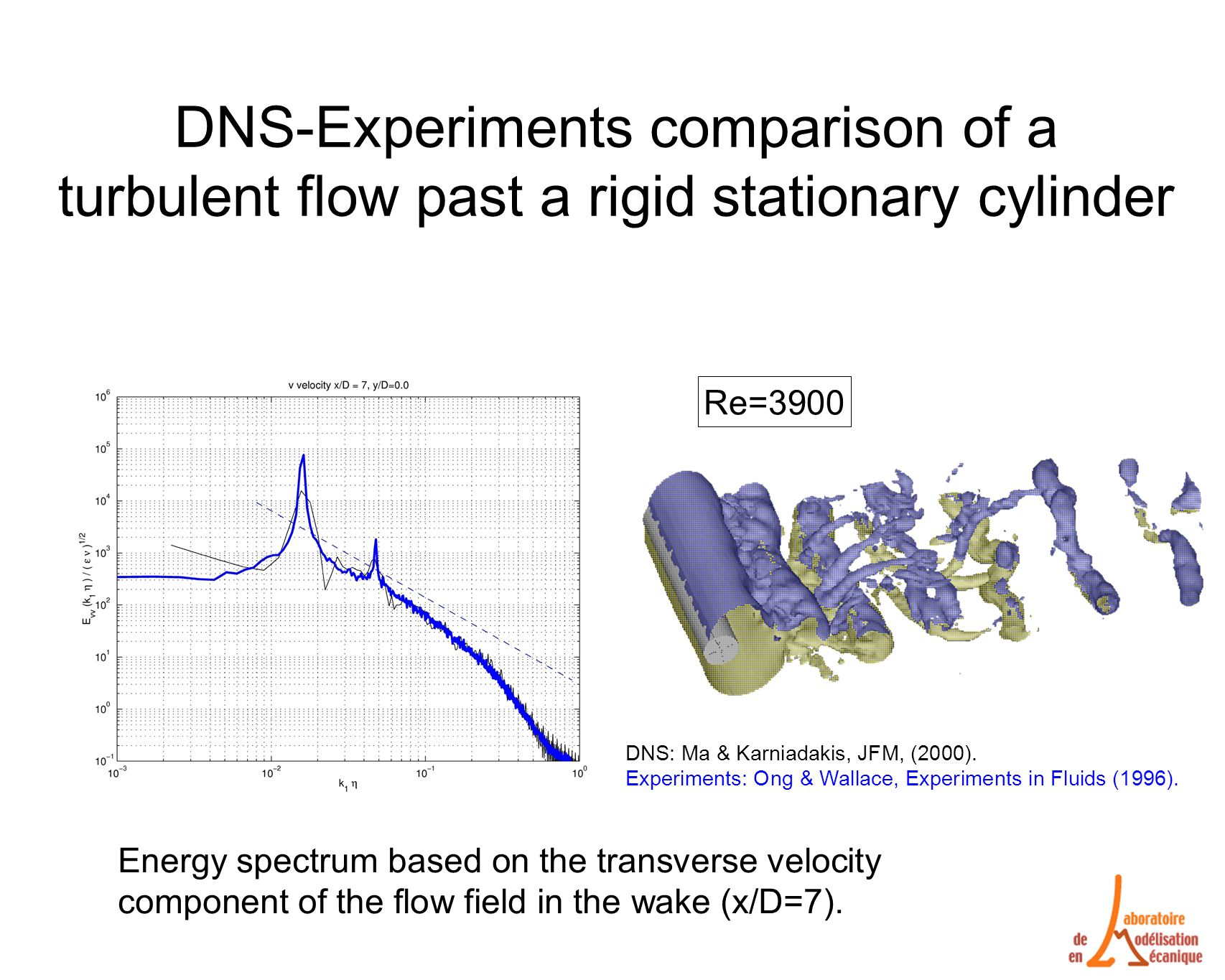 DNS-Experiments comparison of a turbulent flow past a rigid stationary cylinder