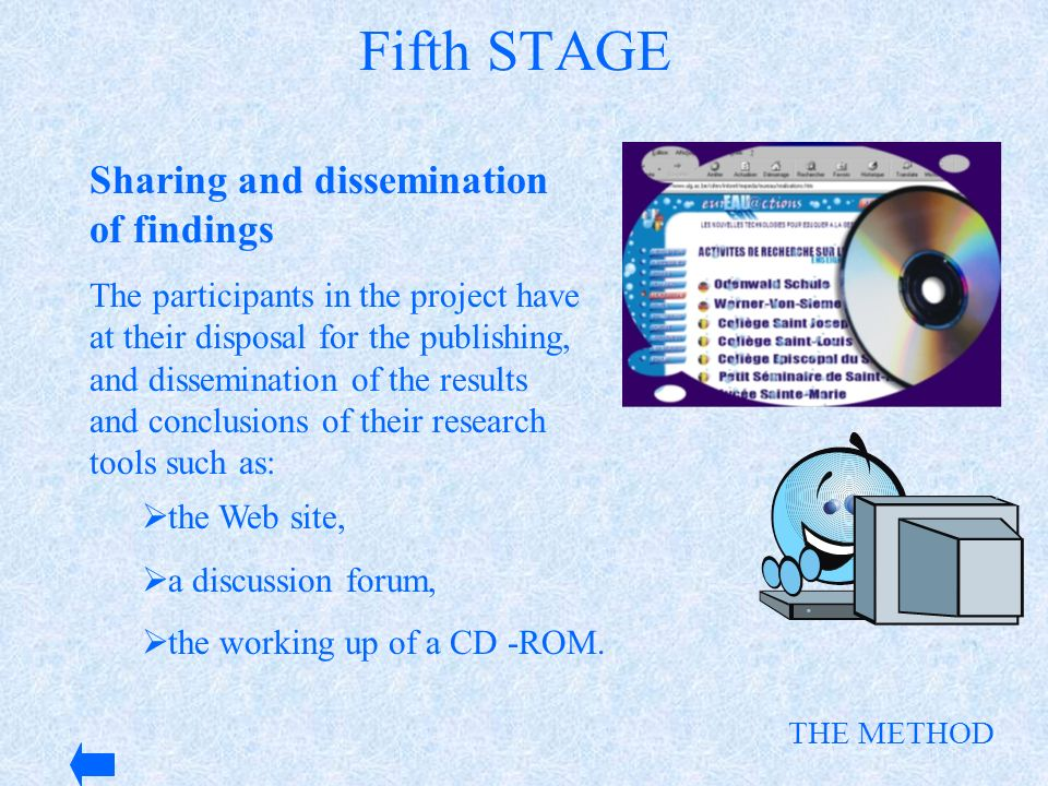 Fifth STAGE Sharing and dissemination of findings