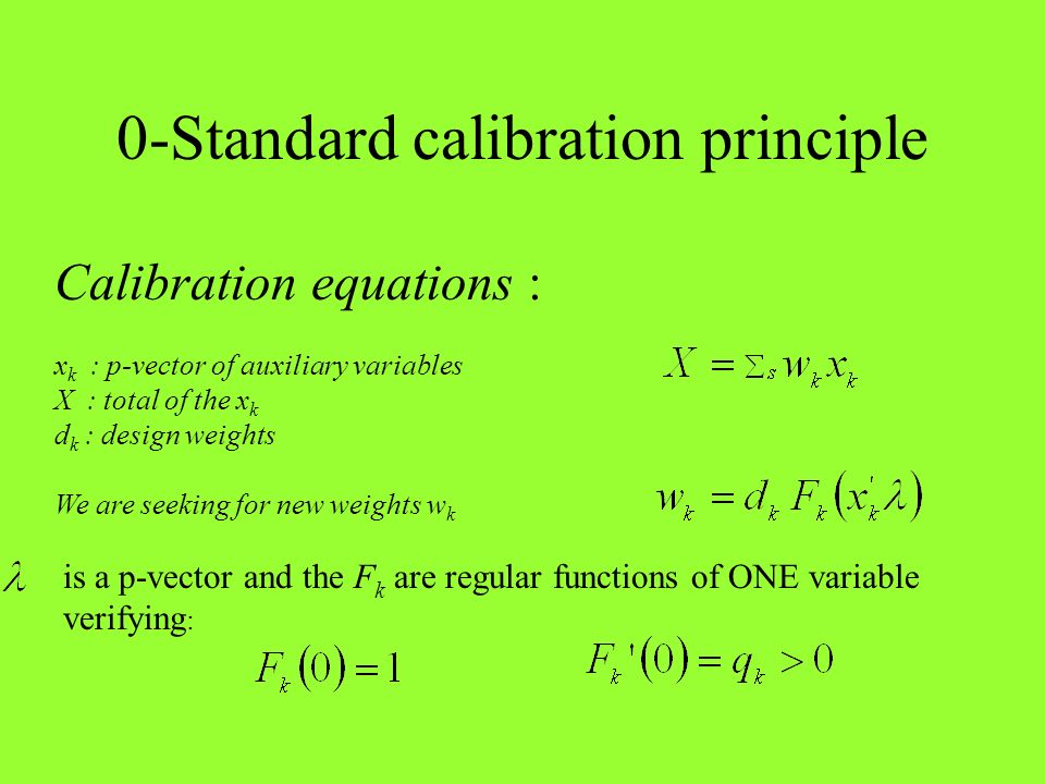 0-Standard calibration principle