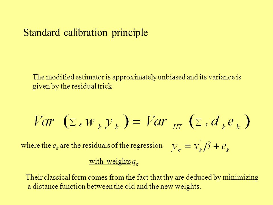 Standard calibration principle