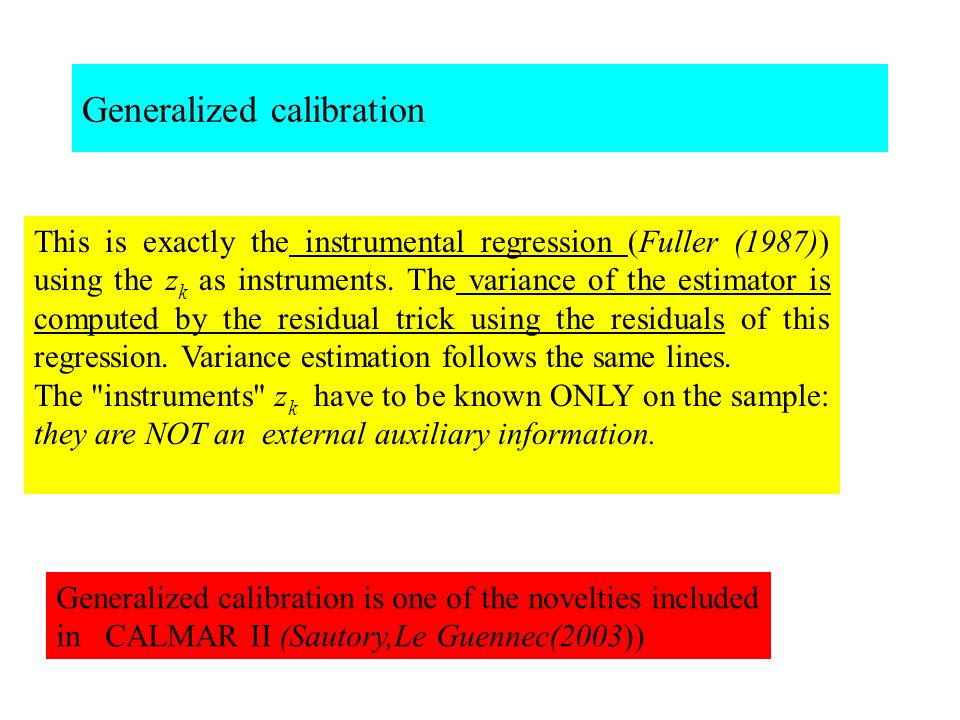 Generalized calibration