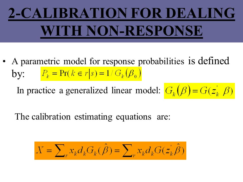 2-CALIBRATION FOR DEALING WITH NON-RESPONSE