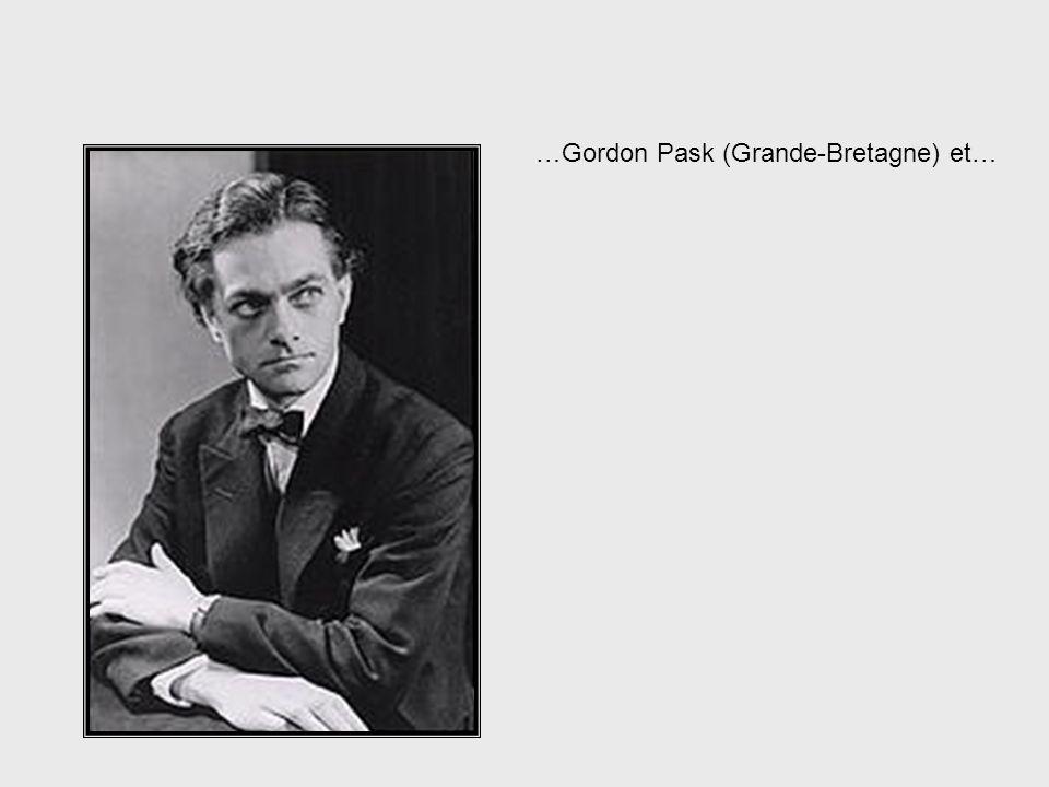 …Gordon Pask (Grande-Bretagne) et…