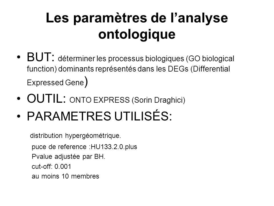 Les paramètres de l'analyse ontologique