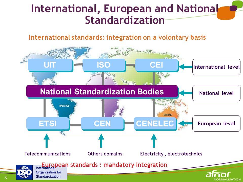 International, European and National Standardization