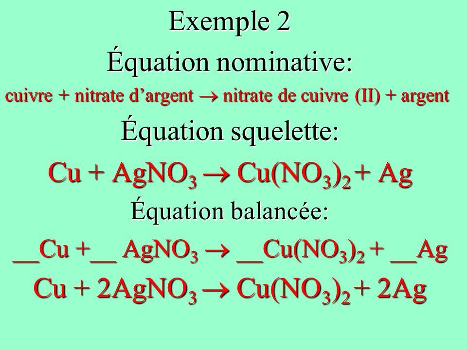 __Cu +__ AgNO3  __Cu(NO3)2 + __Ag