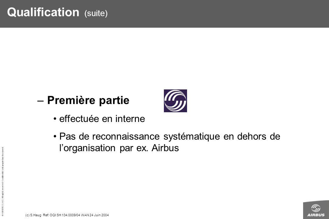 Qualification (suite)