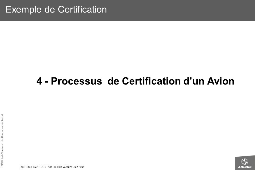 Exemple de Certification