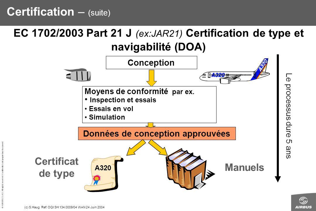 Certification – (suite)