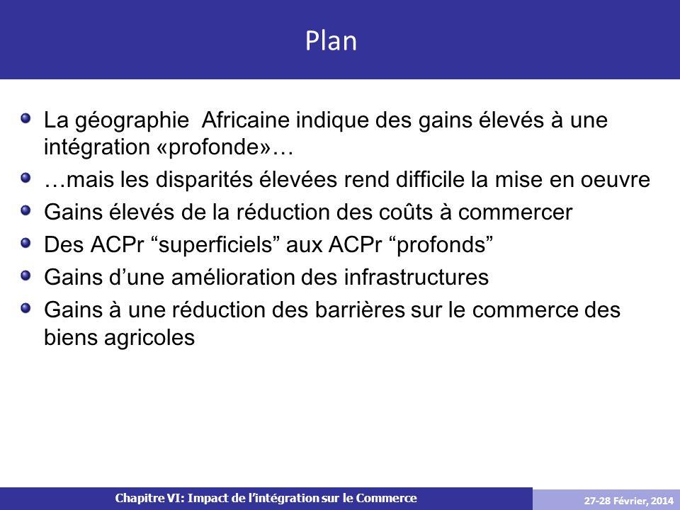 La géographie Africaine indique des gains élevés à une intégration «profonde»…