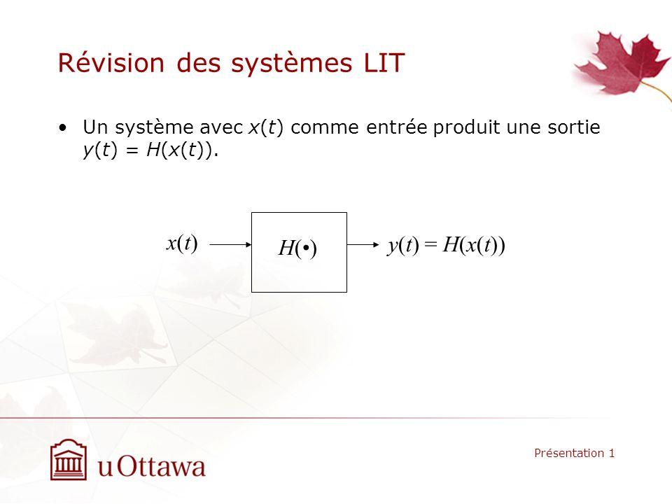 Révision des systèmes LIT