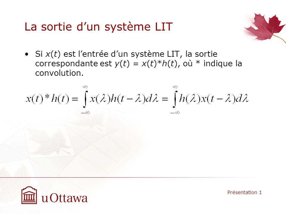 La sortie d'un système LIT
