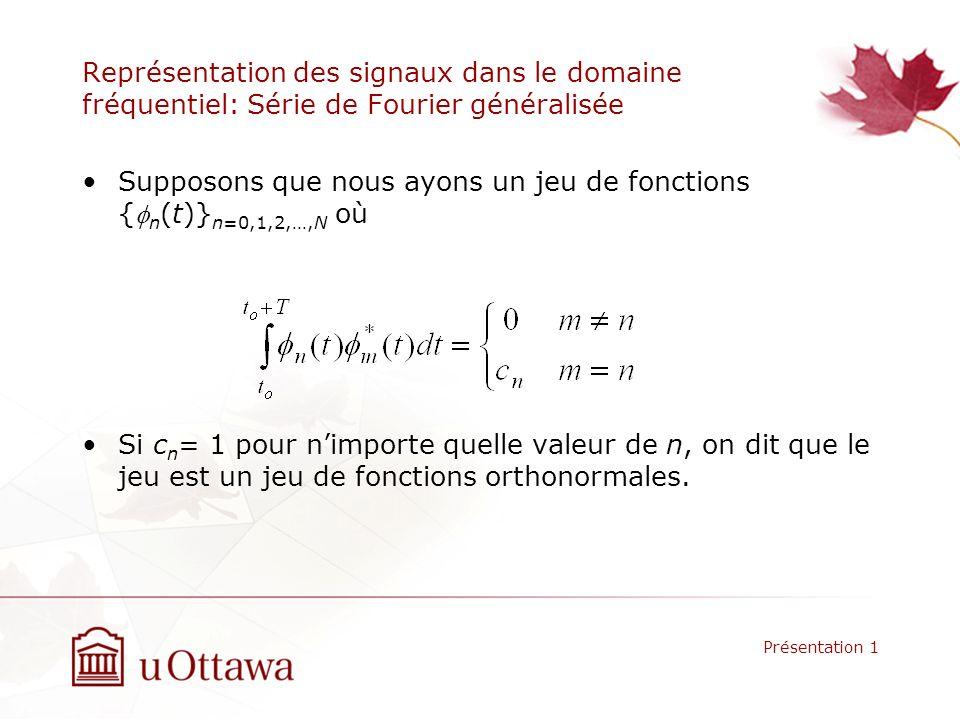 Supposons que nous ayons un jeu de fonctions {fn(t)}n=0,1,2,…,N où