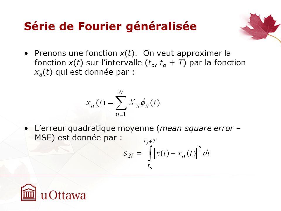 Série de Fourier généralisée