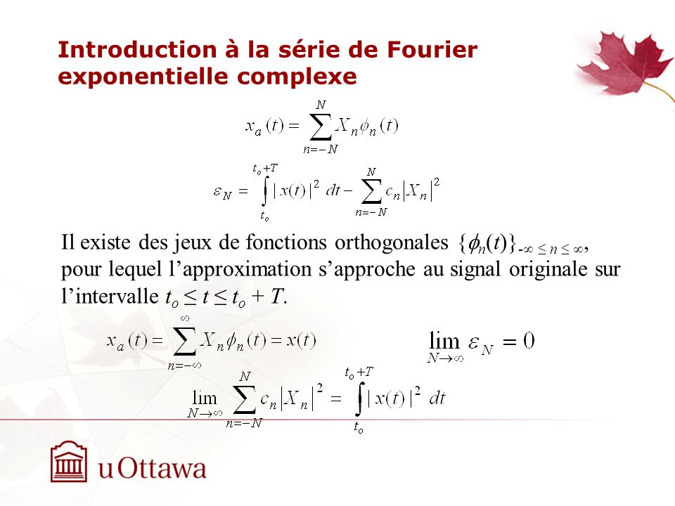 Introduction à la série de Fourier exponentielle complexe