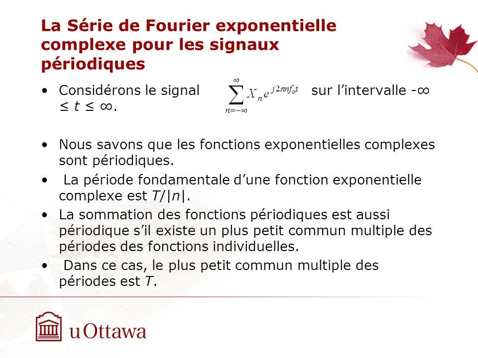 La Série de Fourier exponentielle complexe pour les signaux périodiques