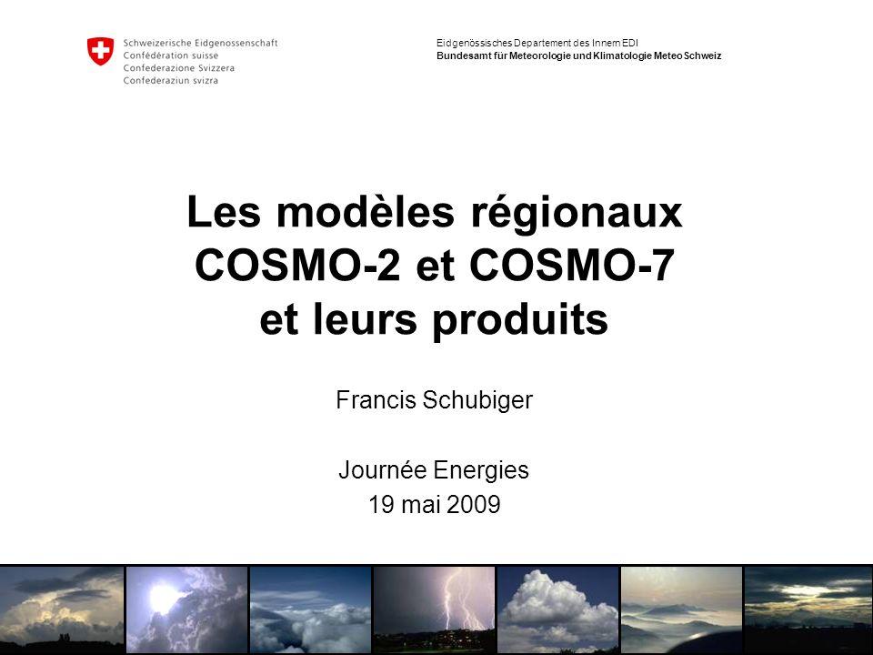 Les modèles régionaux COSMO-2 et COSMO-7 et leurs produits