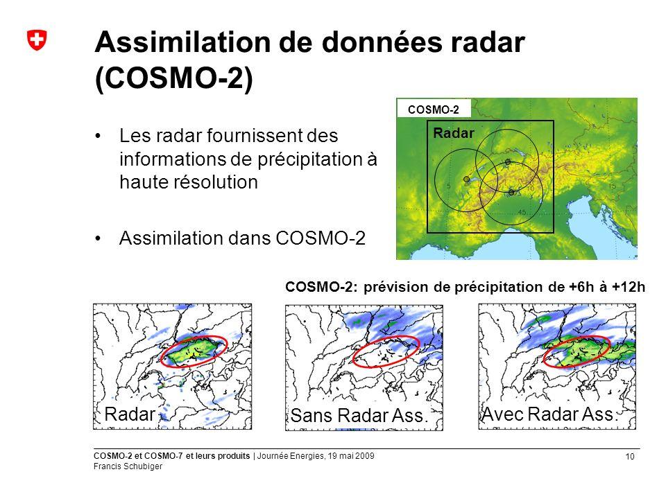 Assimilation de données radar (COSMO-2)