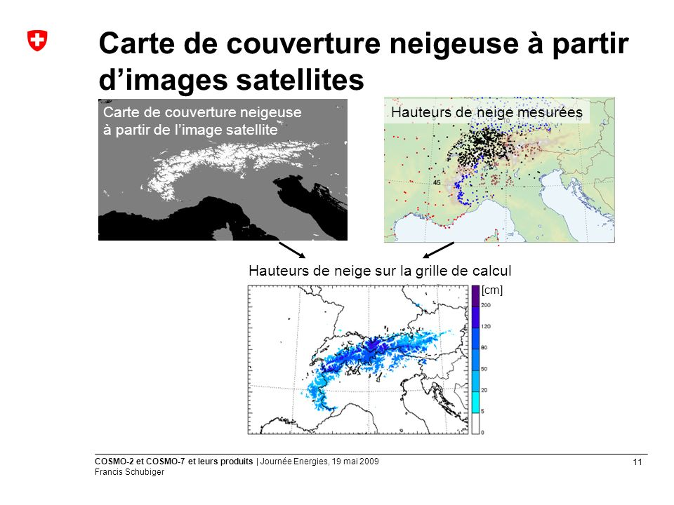 Carte de couverture neigeuse à partir d'images satellites