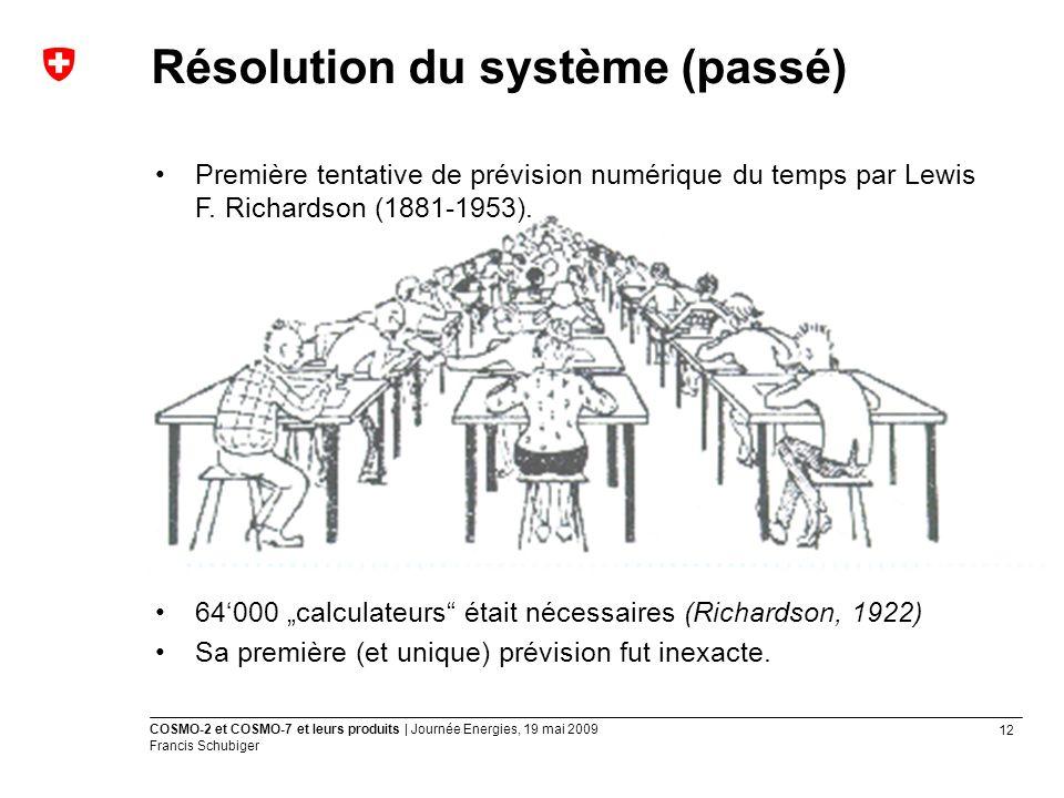 Résolution du système (passé)