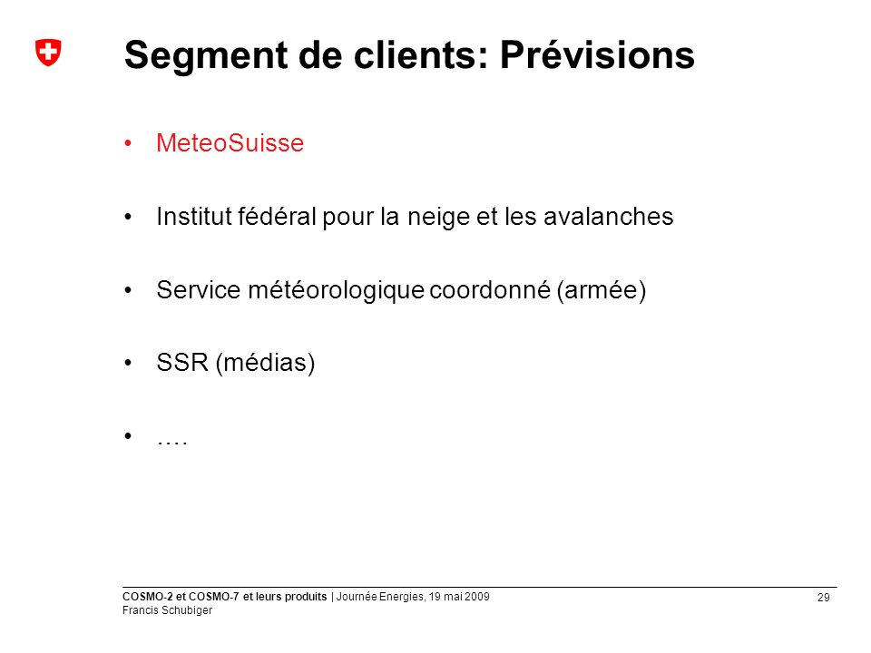 Segment de clients: Prévisions