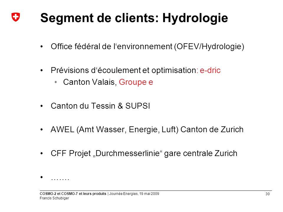 Segment de clients: Hydrologie