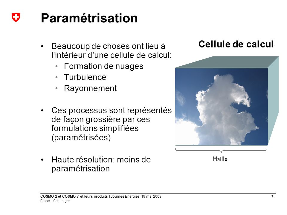 Paramétrisation Cellule de calcul