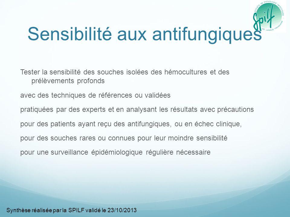 Sensibilité aux antifungiques