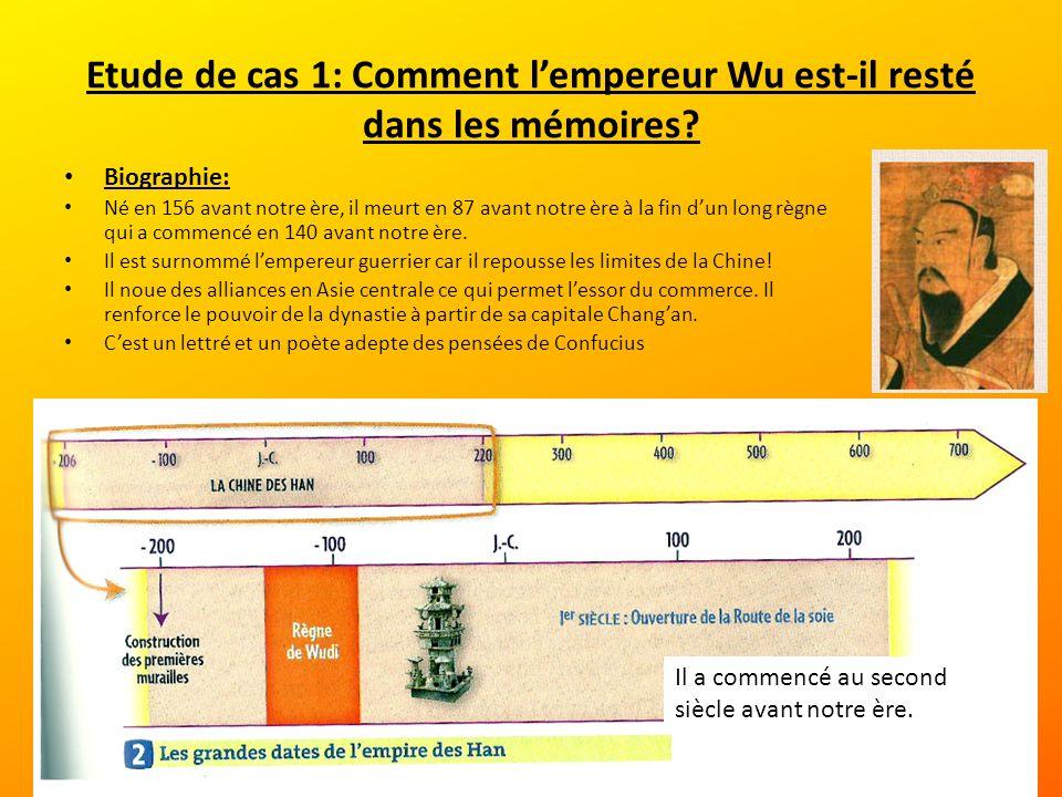 Etude de cas 1: Comment l'empereur Wu est-il resté dans les mémoires