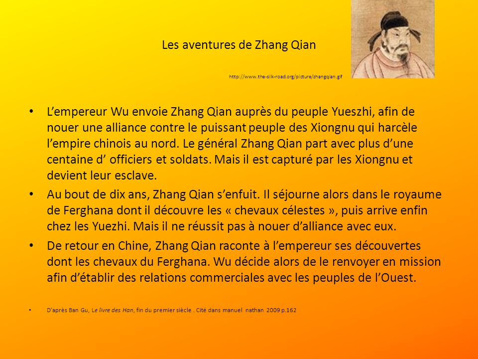 Les aventures de Zhang Qian