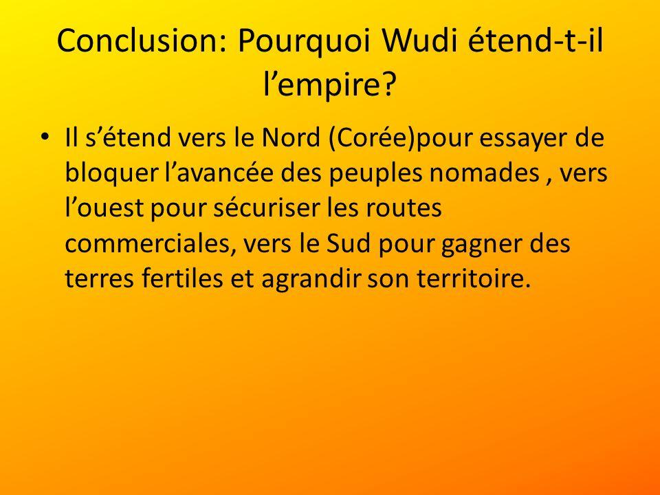 Conclusion: Pourquoi Wudi étend-t-il l'empire