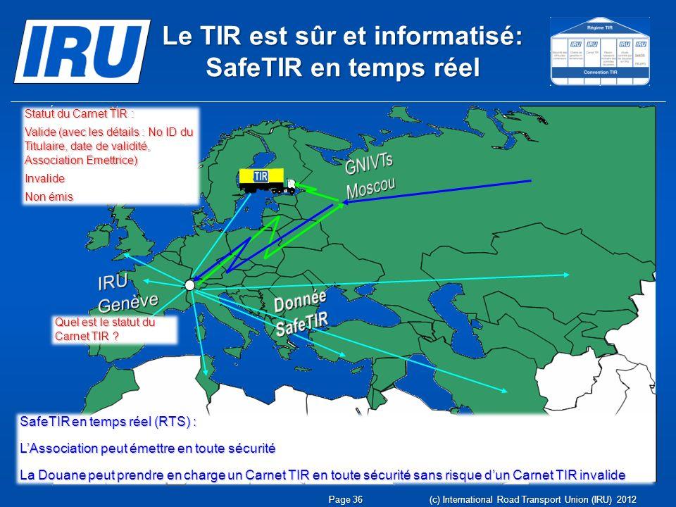 Le TIR est sûr et informatisé: SafeTIR en temps réel