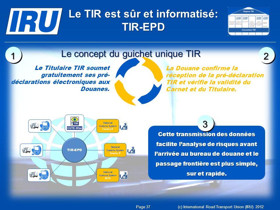 Le TIR est sûr et informatisé: TIR-EPD
