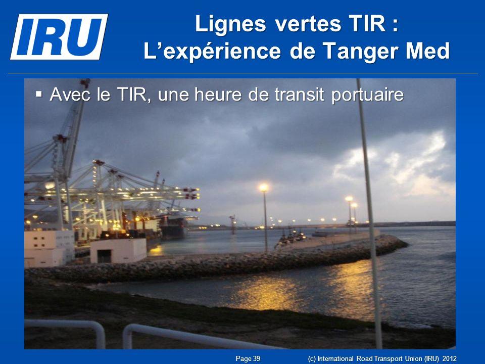 Lignes vertes TIR : L'expérience de Tanger Med