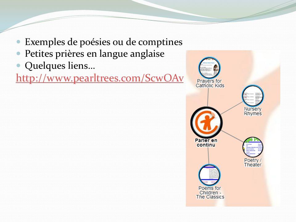 http://www.pearltrees.com/ScwOAv Exemples de poésies ou de comptines