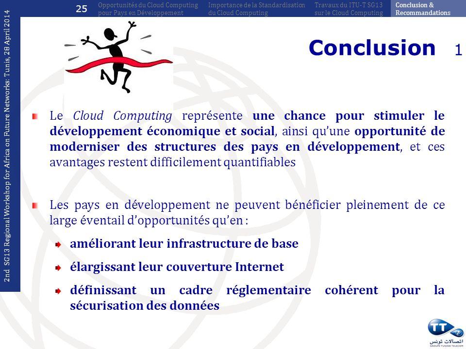 25 Opportunités du Cloud Computing pour Pays en Développement. Importance de la Standardisation du Cloud Computing.