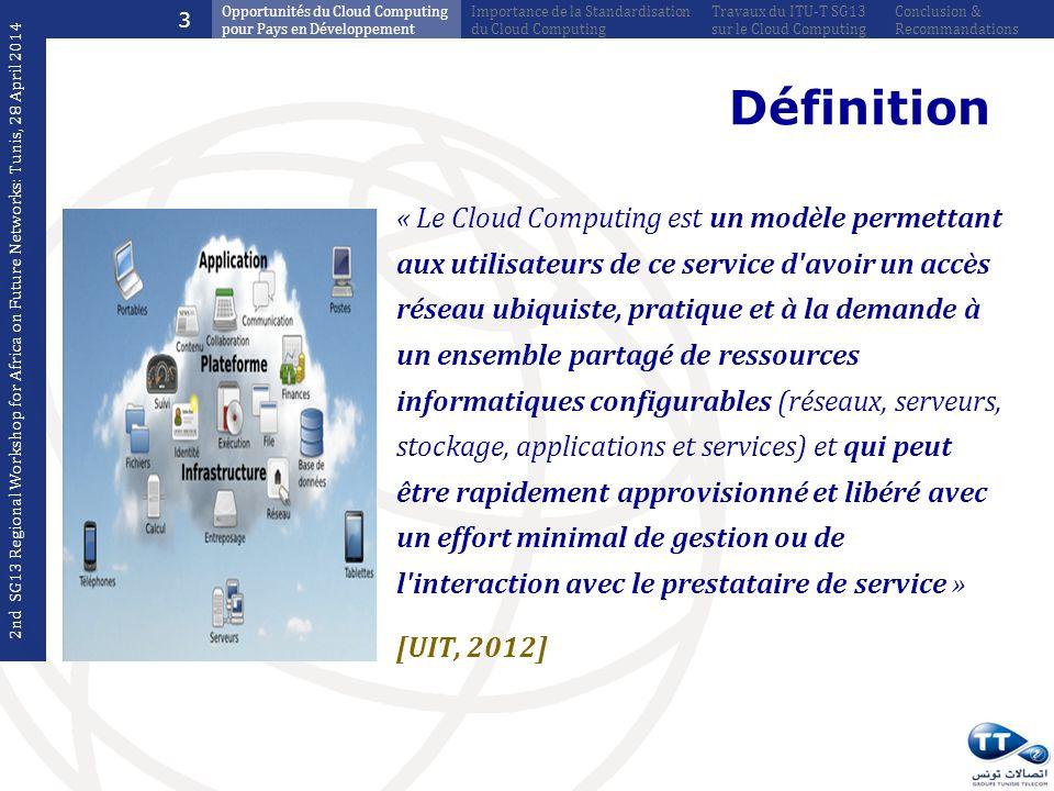 3 Opportunités du Cloud Computing pour Pays en Développement. Importance de la Standardisation du Cloud Computing.