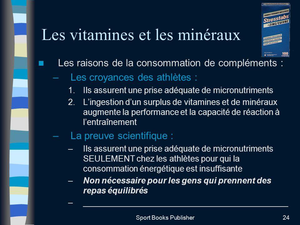 Les vitamines et les minéraux